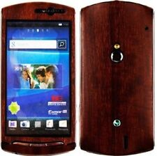 Skinomi Phone Skin Dark Wood+Screen Protector for Sony Ericsson Xperia Neo V