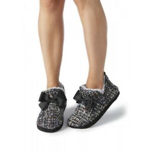 PRETTY YOU LONDON Ruby Boot Slippers Boucle, XL UK 7.5-8.5 EU 42-43 Fur Lined