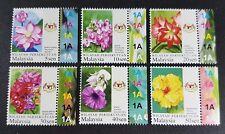 2007 Malaysia Definitive Garden Flowers Wilayah Persekutuan 6v Stamps Set tabs