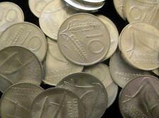 Italy 10 Lira 1969 BU  CH BU Lot of 25 Coins