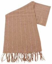 Bassin and Brown Mens Rehn Striped Cashmere Scarf  - Camel