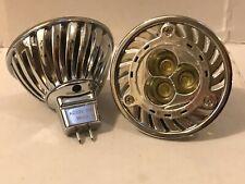 2 X ENERGY SAVING 12V 3W COOL WHITE TRIPLE LED LAMP MR16