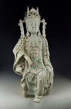 Chinese Antique Qingbai Glaze Jingdezhen Ware Porcelain Kuanyin