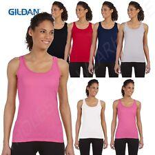 Gildan Womens Tank Top Soft Style 4.5 oz Junior Fit Sleeveless G642L