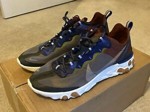 Nike React Element 87 Running Shoes AQ1090 200 Grey Multicolor Size 11