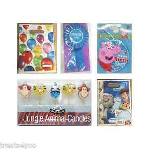 GIFT CANDLES BIRTHDAY BADGE AND PARTY ITEMS TOY STORY PEPPA PIG