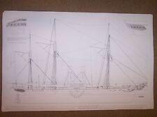 SIDEWHEEL STEAMER WITH SAILS ship plan
