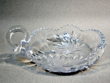 Vintage Clear Glass Nappie, Cut Glass Nappie
