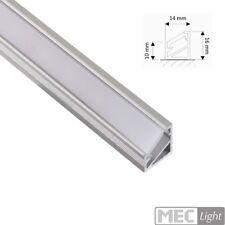 """1m ALU-Profil/Leiste """"ECKE"""" für LED Streifen - opale Abdeckung -milchig"""