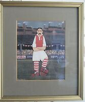 'Footballer' Mounted & Framed Print By Peter Heard