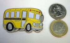 ☆ Geocoin & Pin Club August 2007 Back to School Bus Cachebus Unactivated