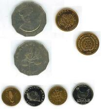 TONGA: 6-PIECE COIN SET:  1 TO 50 SENITI