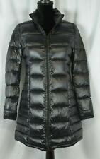 Aqua Women's Black Puffer Jacket Size Small Full Zip Warm Down Parka Casual Warm