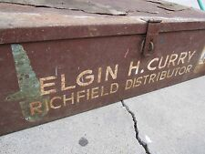 Richfield Gas Oil Advertising Chest Sign Trunk Rich Lube Penn Can Store Display
