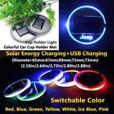 1pcs Solar Energy Coaster Car LED Light Lamp Accessories For Jeep Lights Parts