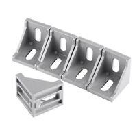 10X 90° Angle L-Form Winkelverbinder 4040 Eckhalterung Winkel Für Nut Aluprofil