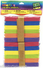 "250 Darice Foamies Brand Foam Craft Sticks 4-1/2"" x 3/8"" Kids Art School ABCraft"