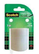 Scotch A81925R3 Magic Tape Refill Roll 19 mm x 25 m - Pack of 3