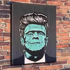 "Arte Pop Frankenstein del eje de balancín Lona Impresa Foto A1.30""x20 ""profundo marco 30 mm"