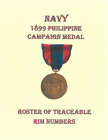 Pre WW I USN Navy 1899 Philippine Campaign Medal Medal Roll & Roster + A-Z List!