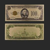 100 Dollar US Dollar Bills Decorative 24k Gold Foil One Hundred Dollar Money