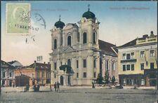 ROMANIA Timisoara Unirei place 1910s PC - nice stamp !