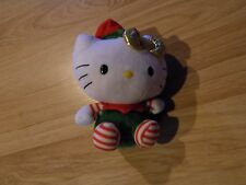 Ty Beanie Baby Hello Kitty Elf Christmas Holiday Plush Stuffed Animal 2012 EUC