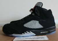 DS Nike Air Jordan 5 Retro OG Black Metallic Silver size 17 3m Mens v 845035-003
