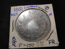 M64 Mexico 1861-Oaxaca 8 Reales XF Scratched