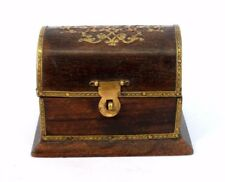 Handmade Decorative Beautiful Wooden Box With Brass Fittings. G62-188