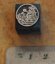 Medaille Galvano Druckstock Druckplatte Klischee Kupferklischee letterpress