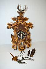 SUPERBE ANCIEN GRAND COUCOU BOIS GERMANY Thème CHASSE gong déco Réf.23061611-78
