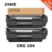 2PK 104 Toner Cartridges FX9 For Canon 104 ImageClass MF4150 MF4350D D420 D480