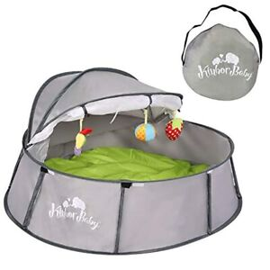 Kinbor Baby Foldable Portable Pop-Up Play Tent Playard Canopy With UV Protection