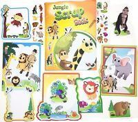 Scrap Book Set Jungle Picture Album Creative Craft Stickers Frame Kids Party Bag