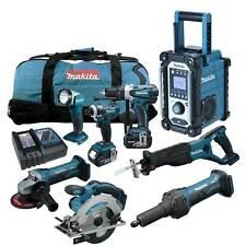 12tlg. MAKITA 18V Profi  Akku Werkzeug Set + DGD800 RMJ Geradschleifer RFE RME
