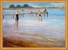 Ponton Julius rouge baignade maillot de bain d'été toile Chiemsee peintre LW 259