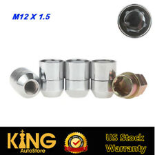 4+1 Steel Wheel Lock Lug Nut M12x1.5 Chrome Locking Nuts For Honda Mazda Toyota