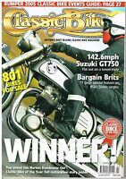 Classic Bike March 2005 Suzuki GT750 BSA C15 B25 B40 B44 B50 Norton Dominator