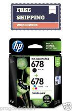 HP 678 Genuine Inkjet Printer Cartridge Tri Color Black Combo  Deskjet Brand New