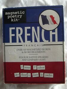 MAGNETIC POETRY KIT >FRENCH<  NIB