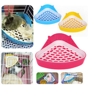 Pet Toilet Small Animal Rabbit Corner Litter Waste Tray Clean Foot Potty Trainer