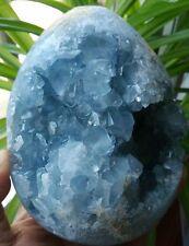F1793 Natural Beautiful Blue Celestite Crystal Geode Cave Mineral Specimen 2287g