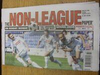 09/08/2015 The Non-League Paper: Issue No 802. Footy Progs/Bobfrankandelvis, exp