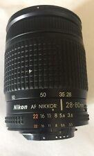Nikon AF Nikkor 28-80mm 1:3.5-5.6D Zoom Lens No end caps