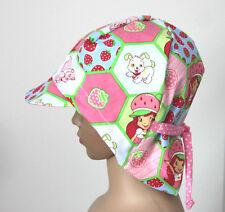 Erdbeer Sommerhut  Mädchen Sommermütze-Schirmmütze rosa Kinder Gr.48-51 DaWanda