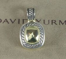 Vintage David Yurman Silver 14K Yellow Gold Albion Pendant Enhancer Necklace
