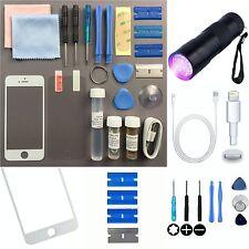 Iphone 5s 5c 5 Pantalla de Cristal Exterior Frontal Kit de Reparación de Repuesto Blanco + loca glue