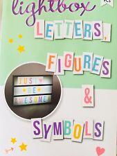 90 Bunte Buchstaben Symbole Und Zahlen Für Lichtbox Leuchtbox