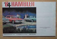 RAMBLER orig 1964 USA Mkt sales brochure - AMC Classic American Ambassador